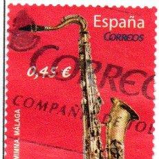 Sellos: 2010 INSTRUMENTOS MUSICALES - SAXOFÓN TENOR EDIFIL 4550 USADO. Lote 232663760