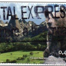 Sellos: 2010 ESPACIOS NATURALES - PICOS DE EUROPA EDIFIL 4581 USADO. Lote 232670036