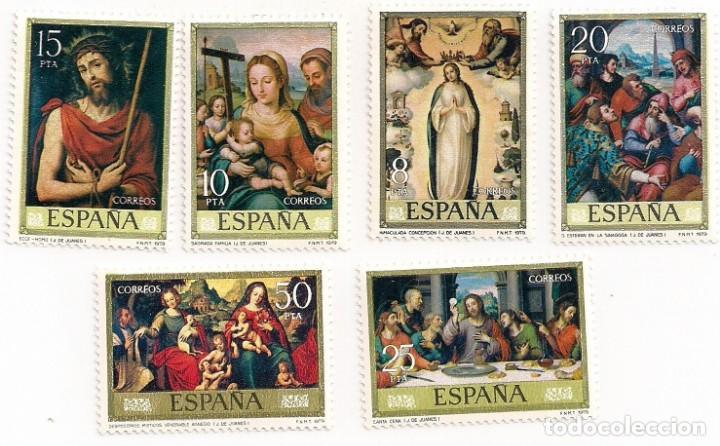 AÑO 1979 - DÍA DEL SELLO - JUAN DE JUANES - SERIE COMPLETA 6 VALORES - EDIFIL 2537 AL 2542 - NUEVOS (Sellos - España - Juan Carlos I - Desde 1.975 a 1.985 - Nuevos)