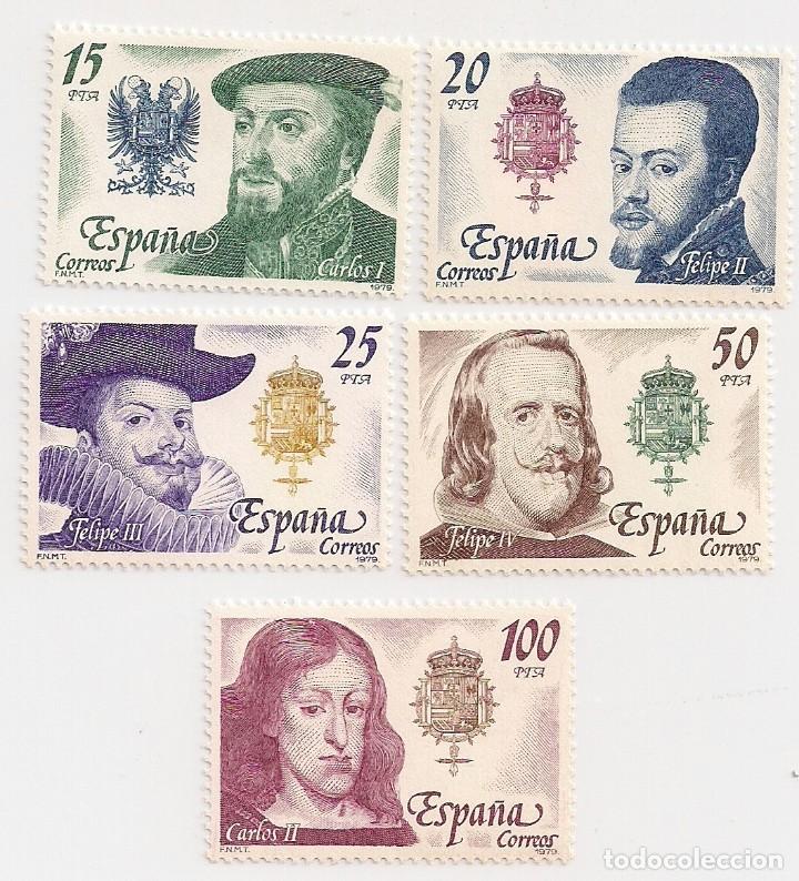 AÑO 1979 - REYES DE ESPAÑA CASA DE AUSTRIA - SERIE COMPLETA 5 VALORES - EDIFIL 2552 AL 2556 - NUEVOS (Sellos - España - Juan Carlos I - Desde 1.975 a 1.985 - Nuevos)