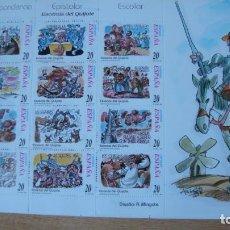 Sellos: ESPAÑA 1998 LOTE 10 MINI HOJAS EDIFIL 61A 61B PERFECTAS. Lote 233706355