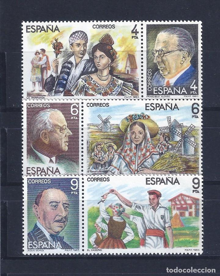 EDIFIL 2697-2702 MAESTROS DE LA ZARZUELA 1983 (SERIE COMPLETA). MNH ** (Sellos - España - Juan Carlos I - Desde 1.975 a 1.985 - Nuevos)
