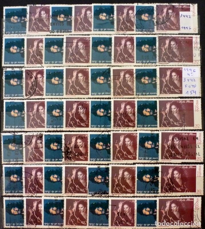 SELLOS ESPAÑA 1996 - FOTO 626 - LOTE 371 - Nº 3442 . COMPLETA USADO (Sellos - España - Juan Carlos I - Desde 1.986 a 1.999 - Usados)