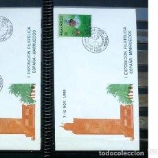 Sellos: SOBRES ESPAÑA- MARRUECOS 1988 - FOTO 166. Lote 234530710