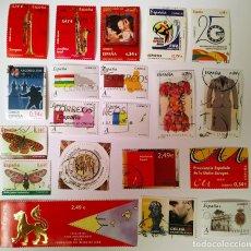 Sellos: FICHA CON SELLOS 2010 USADOS. Lote 234602645