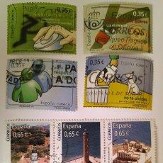 Sellos: FICHA CON SELLOS 2011 USADOS (2 SERIES COMPLETAS). Lote 234674050