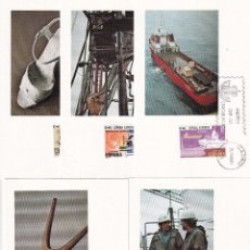 Sellos: SELLOS ESPAÑA 1980 EDIFIL 2563/2567 TARJETAS POSTALES CON MATASELLO DEL PRIMER DIA. Lote 234816955