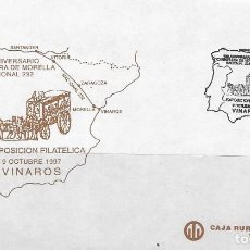 Sellos: SOBRE COMMEMORATIVO ESPAÑA, 150 ANIVERSARIO CARRETERA DE MORELLA NACIONAL 232,VINAROS 9 OCTUBRE 1997. Lote 235527515
