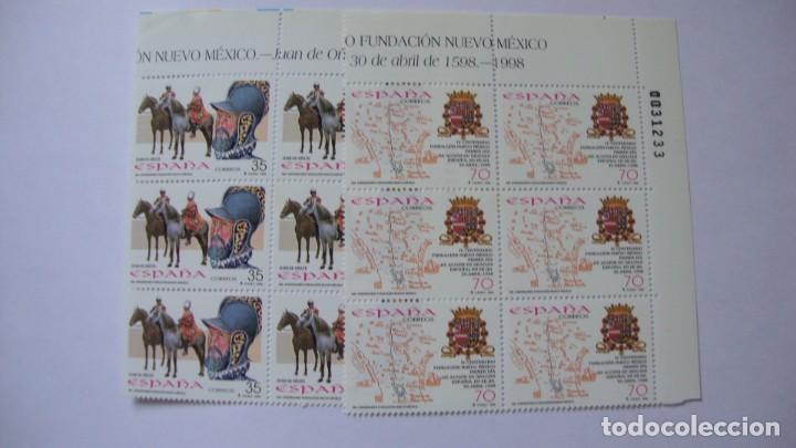 ESPAÑA 1998 EDIFIL 3598/99 Y 3604 NUEVOS EN BLOQUE DE 6 PERFECTOS (Sellos - España - Juan Carlos I - Desde 1.986 a 1.999 - Nuevos)