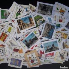 Sellos: LOTE 110 SELLOS EN EUROS USADOS - TODOS DIFERENTES - SPAIN. Lote 235680505