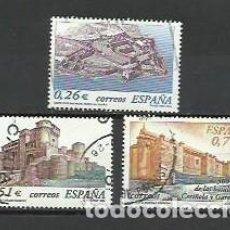 Sellos: AÑO 2003.-SERIE CASTILLOS DE ESPAÑA.-EDIFIL 3986-88.-COMPLETA. Lote 235961450
