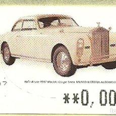 Sellos: ATM EXPENDEDORA LF CON IMPORTE 00,00 € , ESTAMPILLA. Lote 236167480
