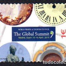 Sellos: EDIFIL 4945 2015 ESPAÑA TURISMO ESPAÑOL. CUMBRE MUNDIAL DEL TURISMO. USADO. Lote 236267765