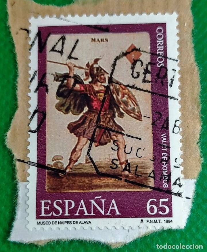 SELLO DE ESPAÑA 1994 MUSEO DE NAIPES VALEL DE ROMBOS 3320 (Sellos - España - Juan Carlos I - Desde 1.986 a 1.999 - Usados)