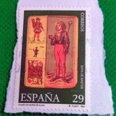 Sellos: SELLO DE ESPAÑA 1994 MUSEO DE NAIPES SOTA DE BASTOS 3318. Lote 236466675