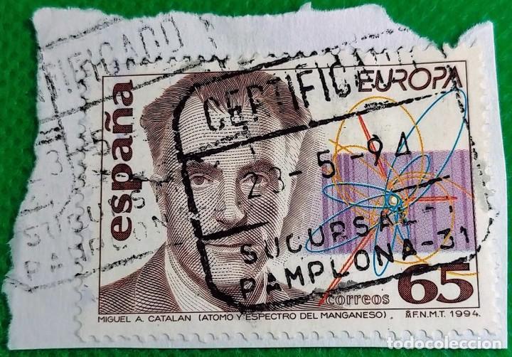 SELLO DE ESPAÑA 1994 DESCUBRIMIENTOS. MIGUEL ANGEL CATALÁN 3202 (Sellos - España - Juan Carlos I - Desde 1.986 a 1.999 - Usados)
