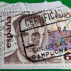Sellos: SELLO DE ESPAÑA 1994 DESCUBRIMIENTOS. MIGUEL ANGEL CATALÁN 3202. Lote 236467910