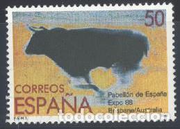 ESPAÑA - AÑO 1988 - EDIFIL 2953 - EXPO '88 - BRISBANEI - USADO (Sellos - España - Juan Carlos I - Desde 1.986 a 1.999 - Usados)