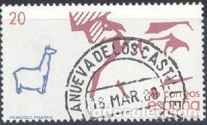 ESPAÑA - AÑO 1988 - EDIFIL 2971 - Vº CENTENARIO DEL DESCUBRIMIENTO DE AMÉRICA - USADO (Sellos - España - Juan Carlos I - Desde 1.986 a 1.999 - Usados)