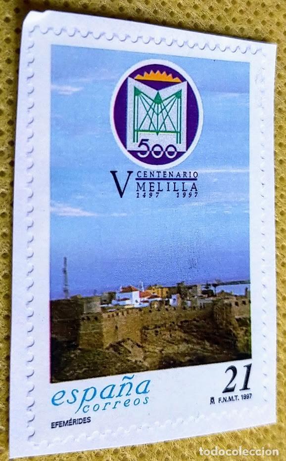 SELLO ESPAÑA 1997 QUINTO CENTENARIO DE MELILLA 3505 (Sellos - España - Juan Carlos I - Desde 1.986 a 1.999 - Usados)