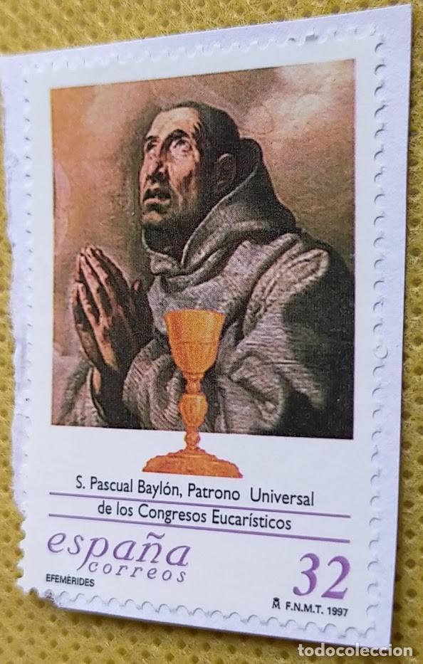SELLO ESPAÑA 1997 SAN PASCUAL BAYLÓN 3506 (Sellos - España - Juan Carlos I - Desde 1.986 a 1.999 - Usados)