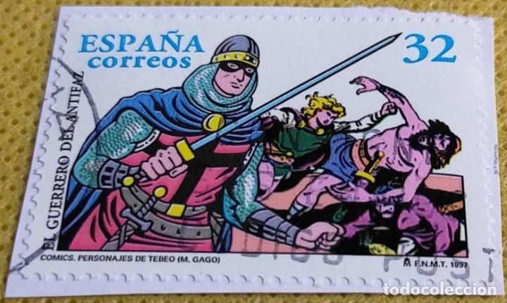 Sellos: 2 Sellos España 1997 Cómic La Familia Ulises y El Guerrero del Antifaz 3486/3487 - Foto 2 - 236906050