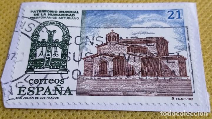 2 SELLOS ESPAÑA 1997 PATRIMONIO MUNDIAL 3508/3509 (Sellos - España - Juan Carlos I - Desde 1.986 a 1.999 - Usados)
