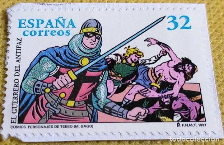 SELLO ESPAÑA 1997 EL GUERRERO DEL ANTIFAZ 3487 (Sellos - España - Juan Carlos I - Desde 1.986 a 1.999 - Usados)