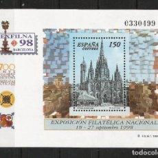 Sellos: ESPAÑA 1998 - EDIFIL 3557** - EXFILNA 98 - MNH. Lote 237035010