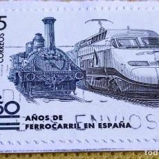 Sellos: SELLO ESPAÑA 1998 – 150 AÑOS DEL FERROCARRIL EN ESPAÑA 3591. Lote 237463090