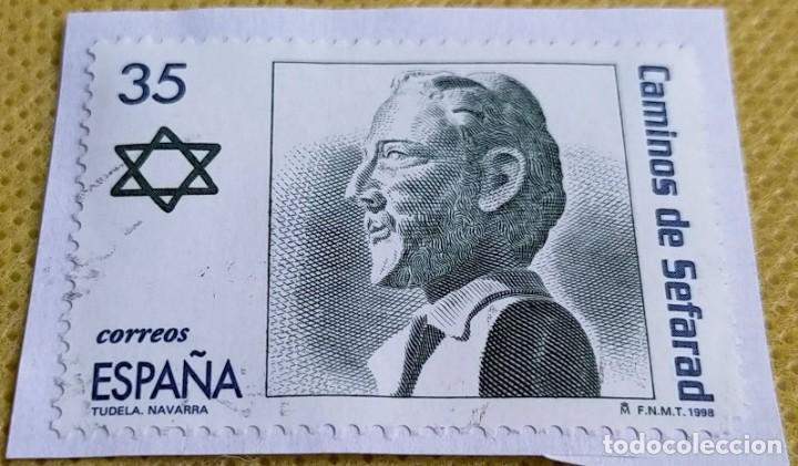 SELLO ESPAÑA 1998 RUTA DE LOS CAMINOS DE SEFARAD. BUSTO DE BENJAMÍN DE TUDELA 3601 (Sellos - España - Juan Carlos I - Desde 1.986 a 1.999 - Usados)