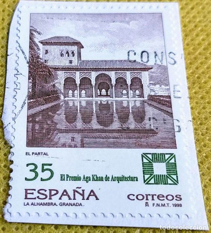 SELLO ESPAÑA 1998 PREMIO AGA KHAM DE ARQUITECTURA. ALHAMBRA DE GRANADA 3588 (Sellos - España - Juan Carlos I - Desde 1.986 a 1.999 - Usados)