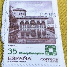 Sellos: SELLO ESPAÑA 1998 PREMIO AGA KHAM DE ARQUITECTURA. ALHAMBRA DE GRANADA 3588. Lote 237466675
