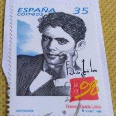 Timbres: SELLO ESPAÑA 1998 CENTENARIO DEL NACIMIENTO DE LORCA 3549. Lote 237469280