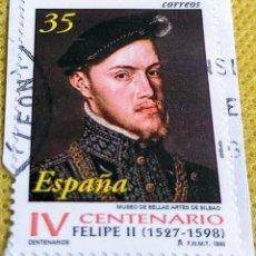 Sellos: SELLO ESPAÑA 1998 CENTENARIO DE LA MUERTE DE FELIPE II - 3548. Lote 237470135