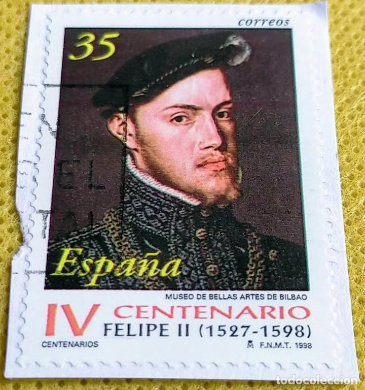 SELLO ESPAÑA 1998 CENTENARIO DE LA MUERTE DE FELIPE II - 3548 (Sellos - España - Juan Carlos I - Desde 1.986 a 1.999 - Usados)