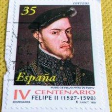 Sellos: SELLO ESPAÑA 1998 CENTENARIO DE LA MUERTE DE FELIPE II - 3548. Lote 237470220