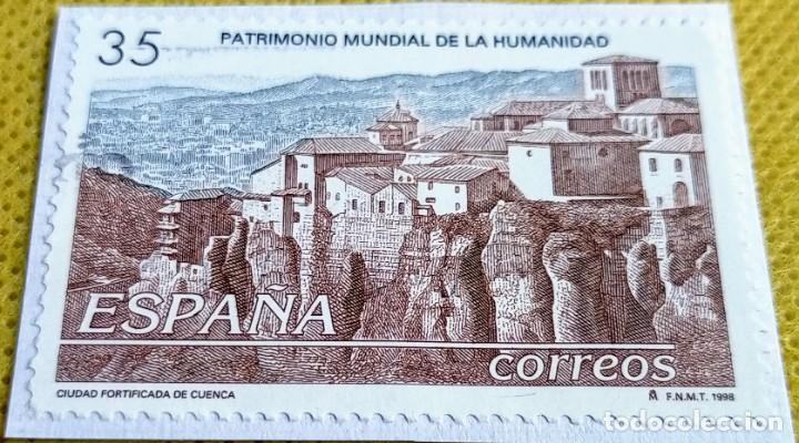 SELLO ESPAÑA 1998 CIUDAD FORTIFICADA DE CUENCA 3558 (Sellos - España - Juan Carlos I - Desde 1.986 a 1.999 - Usados)
