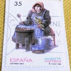 Sellos: 2 SELLOS ESPAÑA 1998 NAVIDAD 98 – 3596/3597. Lote 237476495