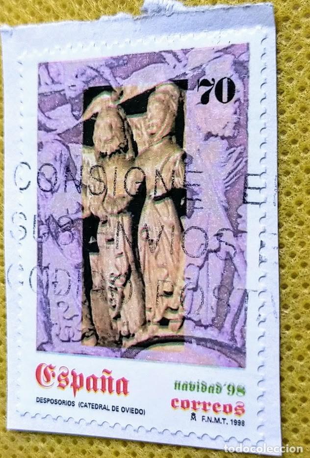 2 SELLOS ESPAÑA 1998 NAVIDAD 98 – 3596/3597 (Sellos - España - Juan Carlos I - Desde 1.986 a 1.999 - Usados)