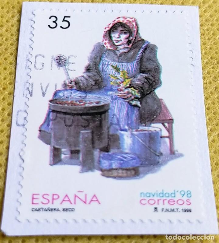 Sellos: 2 Sellos España 1998 Navidad 98 – 3596/3597 - Foto 2 - 237476705