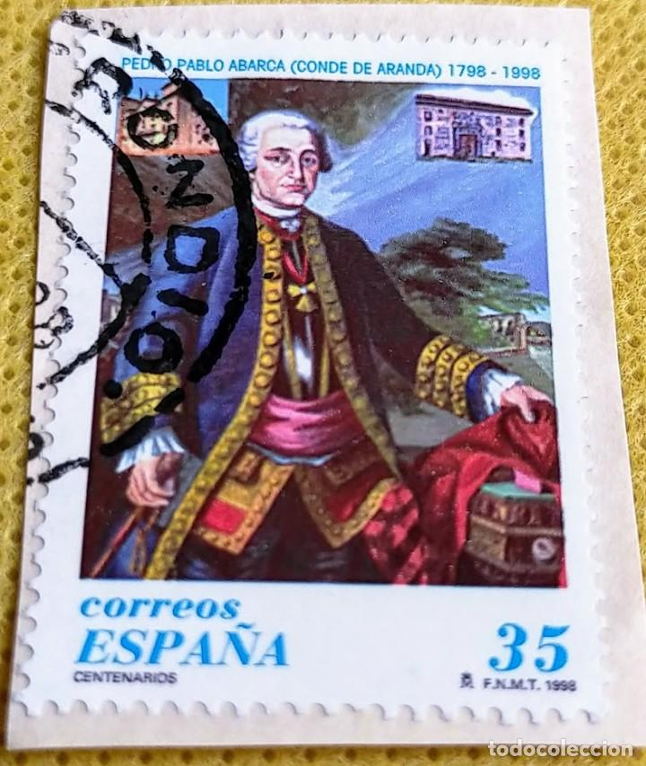 SELLO ESPAÑA 1998 CONDE DE ARANDA 3537 (Sellos - España - Juan Carlos I - Desde 1.986 a 1.999 - Usados)