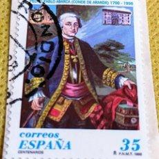 Sellos: SELLO ESPAÑA 1998 CONDE DE ARANDA 3537. Lote 237477445