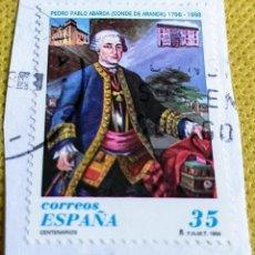 Sellos: SELLO ESPAÑA 1998 CONDE DE ARANDA 3537. Lote 237477555