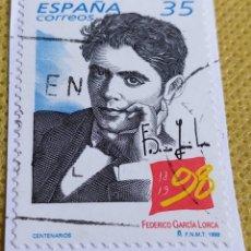 Sellos: SELLO ESPAÑA 1998 CENTENARIO DEL NACIMIENTO DE LORCA 3549. Lote 237480915