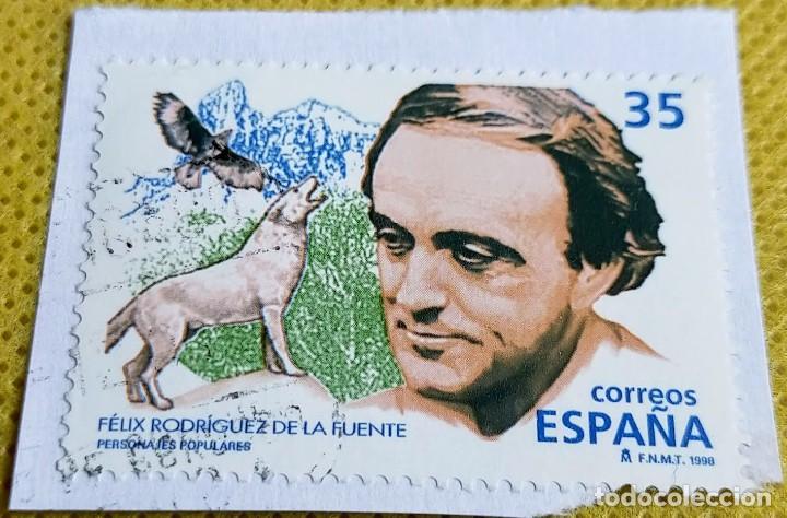 SELLO ESPAÑA 1998 FÉLIX RODRÍGUEZ DE LA FUENTE 3546 (Sellos - España - Juan Carlos I - Desde 1.986 a 1.999 - Usados)