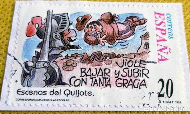 Sellos: 3 sellos de un minipliego de Escenas del Quijote nº 3564/3568/3570 - Foto 2 - 237486020