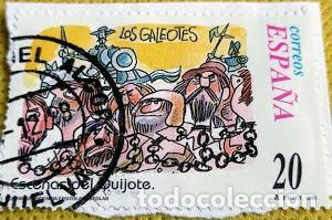 Sellos: 3 sellos de un minipliego de Escenas del Quijote nº 3564/3568/3570 - Foto 3 - 237486020