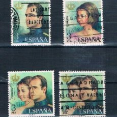 Sellos: ESPAÑA 1976 DON JUAN CARLOS I Y DOÑA SOFIA. REYES DE ESPAÑA EDIFIL 2302/2305 SERIE USADA. Lote 237596210