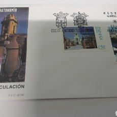 Selos: EDIFIL 3534/5 ESTATUTO CEUTA Y MALILLA ESPAÑA 1999 SFC 8 MATASELLO USADO FILATELIA COLISEVM. Lote 237619080